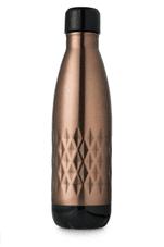 Casa & Casa Diamond Stainless Steel Vacuum Water Bottle - Copper 500ml